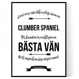 Livet Med Clumber Spaniel Poster