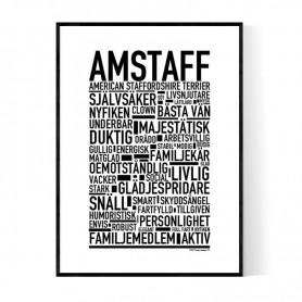 Amstaff Poster