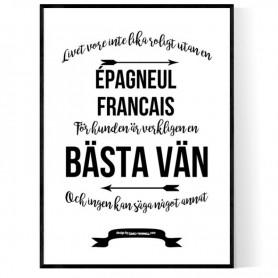 Livet Med Épagneul Francais Poster