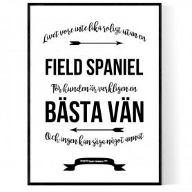 Livet Med Field Spaniel Poster