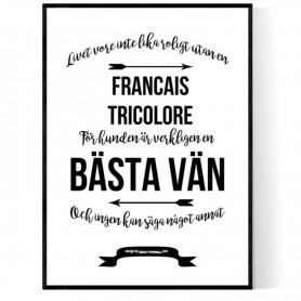 Livet Med Francais Tricolore Poster