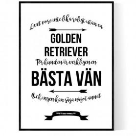 Livet Med Golden Retriever Poster
