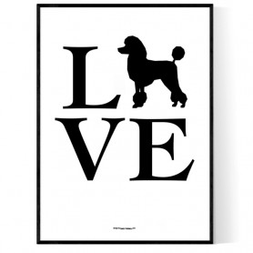 Love Pudel Poster