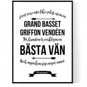 Livet Med Grand Basset Griffon Vendéen Poster