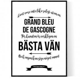 Livet Med Grand Bleu de Gascogne Poster