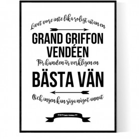Livet Med Grand Griffon Vendéen Poster