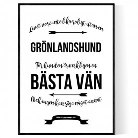Livet Med Grönlandshund Poster