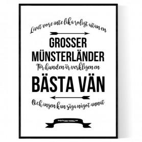 Livet Med Grosser Münsterländer Poster