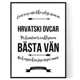 Livet Med Hrvatski Ovcar Poster