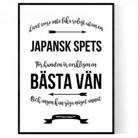 Livet Med Japansk Spets Poster