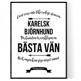 Livet Med Karelsk Björnhund Poster