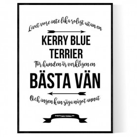 Livet Med Kerry Blue Terrier Poster