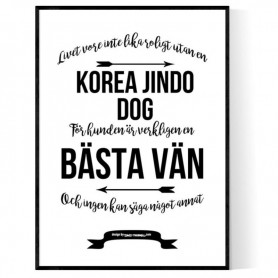 Livet Med Korea Jindo Dog Poster