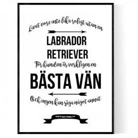 Livet Med Labrador Retriever Poster