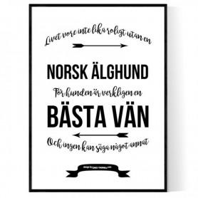 Livet Med Norsk Älghund Poster
