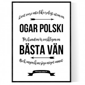 Livet Med Ogar Polski Poster