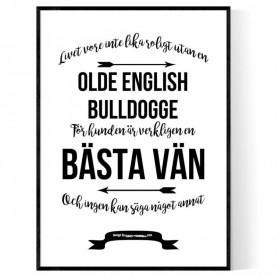 Livet Med Olde English Bulldogge Poster