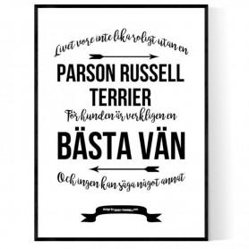 Livet Med Parson Russell Terrier Poster