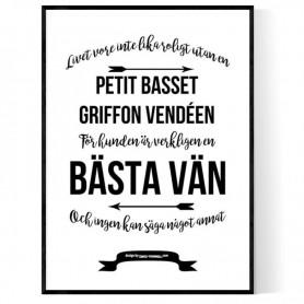 Livet Med Petit Basset Griffon Vendéen Poster