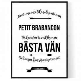 Livet Med Petit Brabancon Poster