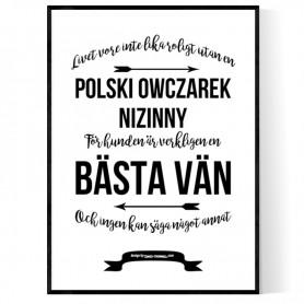 Livet Med Polski Owczarek Nizinny Poster