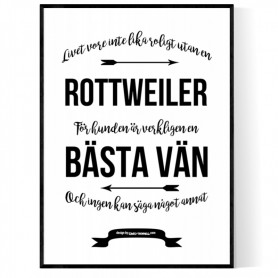 Livet Med Rottweiler Poster