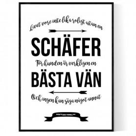 Livet Med Schäfer Poster