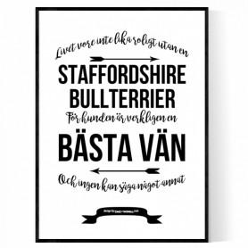 Livet Med Staffordshire Bullterrier Poster