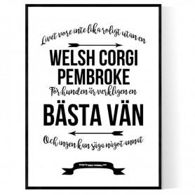 Livet Med Welsh Corgi Pembroke Poster