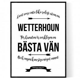 Livet Med Wetterhoun Poster
