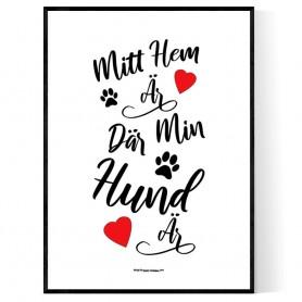 Där min hund är Poster
