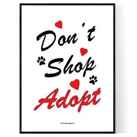 Dont Shop Adopt Poster