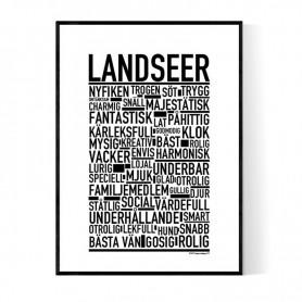 Landseer Poster
