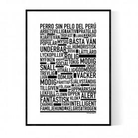 Perro Sin Pelo Del Perú Poster