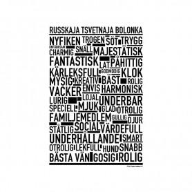 Russkaja Tsvetnaja Bolonka Poster