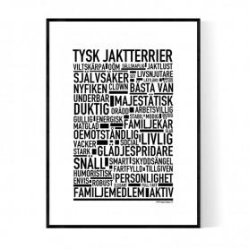 Tysk Jaktterrier Poster