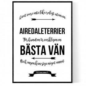 Livet Med Airedaleterrier Poster