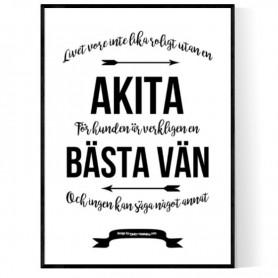 Livet Med Akita Poster