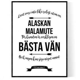 Livet Med Alaskan Malamute Poster