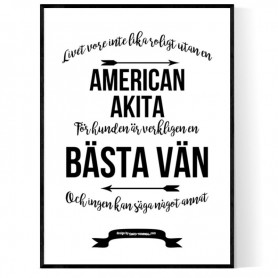 Livet Med American Akita Poster
