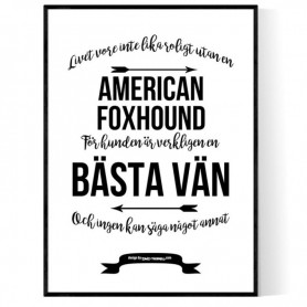 Livet Med American Foxhound Poster