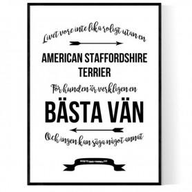 Livet Med American Staffordshire Terrier Poster