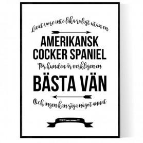 Livet Med Amerikansk Cocker Spaniel Poster