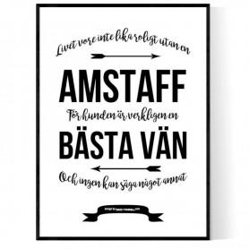 Livet Med Amstaff Poster