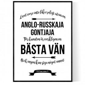 Livet Med Anglo-Russkaja Gontjaja Poster