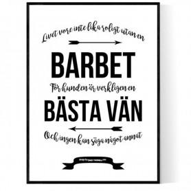 Livet Med Barbet Poster