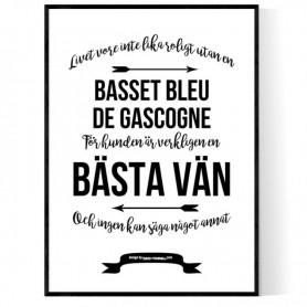 Livet Med Basset Bleu de Gascogne Poster
