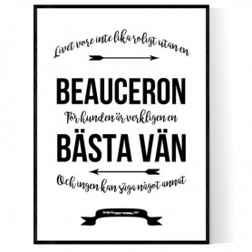 Livet Med Beauceron Poster