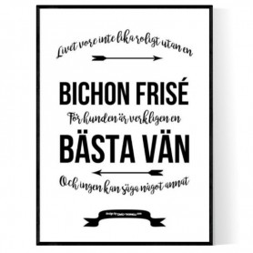 Livet Med Bichon Frisé Poster