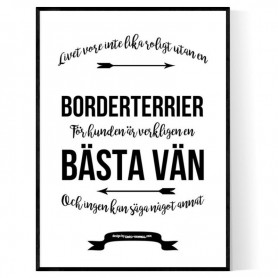 Livet Med Borderterrier Poster